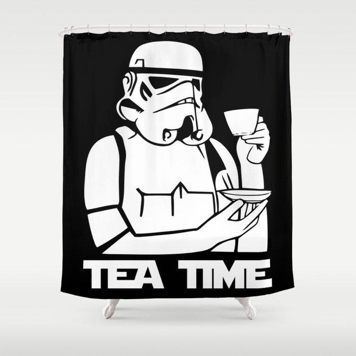 Tea Time Stormtrooper Shower Curtain