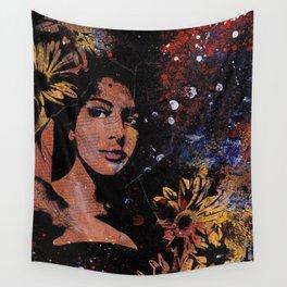 untitled #28914 (sunflowers bikini girl) Wall Tapestry
