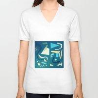 marine V-neck T-shirts featuring marine by Carlos Castro Perez