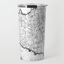 Vintage Map of Sicily Italy (1600s) BW Travel Mug