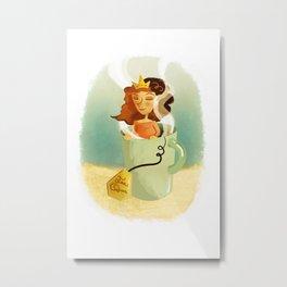 Tea Queen Metal Print