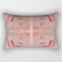 Soft Coral Tulips Rectangular Pillow