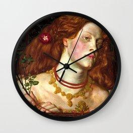 "Dante Gabriel Rossetti ""Fair Rosamund"" Wall Clock"