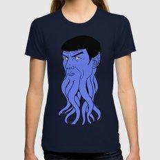 Mr Spocktopus MEDIUM Navy Womens Fitted Tee