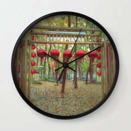 Suzhou, China in the Fall Wall Clock