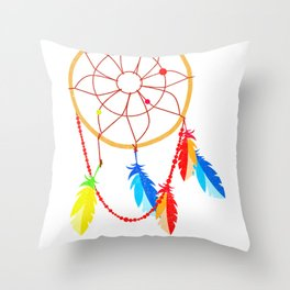 American Indian Dreamcatcher Native American History Design Throw Pillow