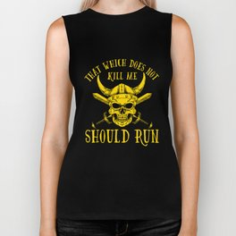 Viking That Which Does Not Kill Me Should Run design MN Biker Tank