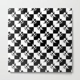 Checkmate Black & White Angels Metal Print