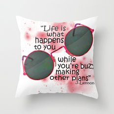 Life By Lennon Throw Pillow
