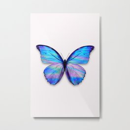 HOLOGRAPHIC BUTTERFLY Metal Print