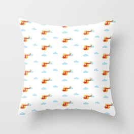 Cute plane pattern Throw Pillow