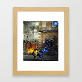 Siblings of the Atoms Framed Art Print