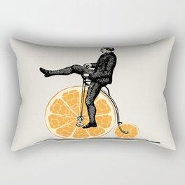 Orange Bicycle Rectangular Pillow