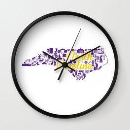 ECU North Carolina State - Purple and Gold Eastern Carolina University Design Wall Clock