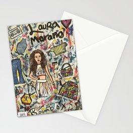 Nail Polish Painting Of Laura Marano Stationery Cards