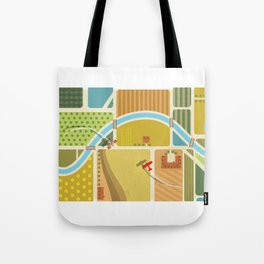 from above in the skies of Picardy Tote Bag