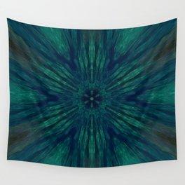 Blue Green Marine Flower Wall Tapestry