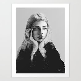 Portrait of a woman No.2 Art Print