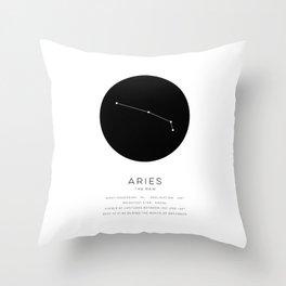Aries Constellation Throw Pillow