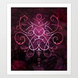 Sigil of Self Love and Self Care Art Print
