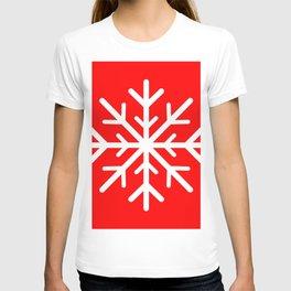 Snowflake (White & Red) T-shirt