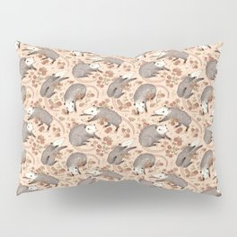Opossum and Roses Pillow Sham