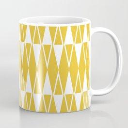 Mid Century Modern Diamond Pattern Mustard Yellow 234 Coffee Mug