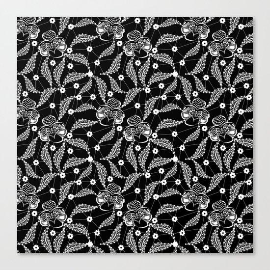 White vintage lace . Canvas Print
