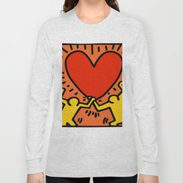 Heart Homage to Keith Haring Long Sleeve T-shirt