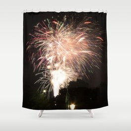 Firework Finale Shower Curtain