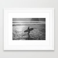 surfer Framed Art Prints featuring Surfer by AngelaRiggs