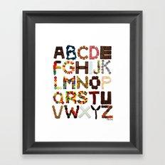 Candy Alphabet Framed Art Print