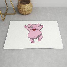 Jubilation Pig Dance Emote Funny Gift Rug