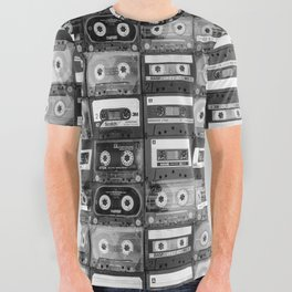 Something Nostalgic - black and white #decor #buyart #society6 All Over Graphic Tee
