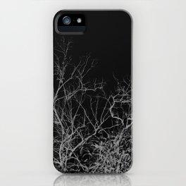 Dark night forest iPhone Case