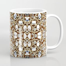 jewelry gemstone silver champagne gold crystal Coffee Mug