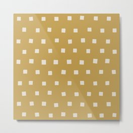 painted squares-buff Metal Print