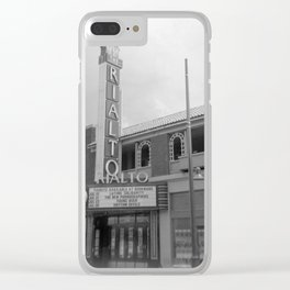 Vintage Neon Sign - The Rialto Theater - Tucson Arizona Clear iPhone Case