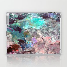 Marble Paint Texture Pink Green Red Blue Laptop & iPad Skin