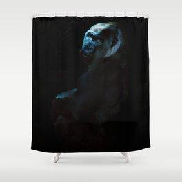 Humanity - Mountain Gorilla in Moonlight Shower Curtain