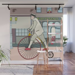 Steampunk Penny-Farthing Velocipedes Wall Mural