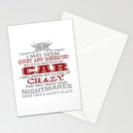 IF YOU MESS WITH MY CAR Stationery Cards