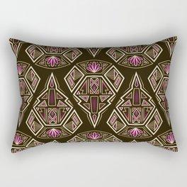 art deco pattern ornament Rectangular Pillow