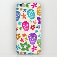 sugar skulls iPhone & iPod Skins featuring Sugar Skulls by Emmyrolland