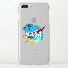 beach nasa logo Clear iPhone Case
