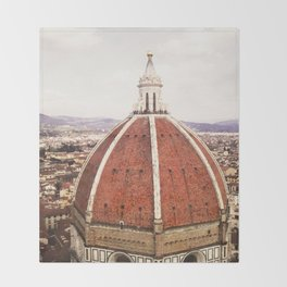 Duomo - Hazy, Florence Photography Throw Blanket