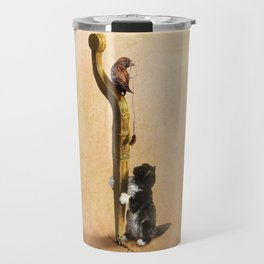 The Cat, the Bird and the Mouse Travel Mug