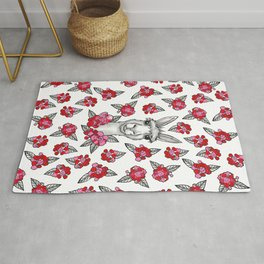 LLet Me LLove You - Llama and Roses Rug