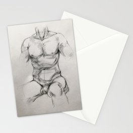 Male Torso Study Stationery Cards