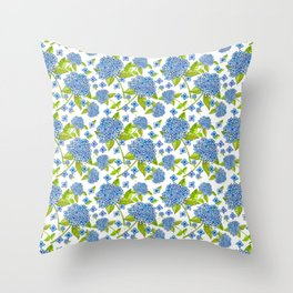 Bunches of Hydrangeas Throw Pillow